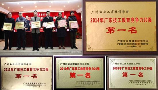 广州白云技校排名证书