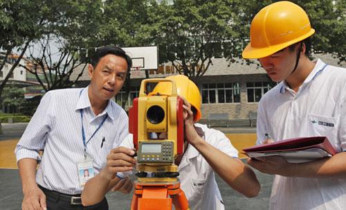 建筑测量课程一体化教学场景