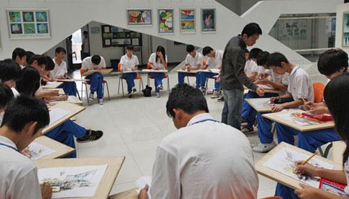 室内设计专业手绘效果图一体化教学场景