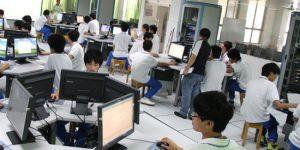 广州白云工商高级技工学校先进的实训设备