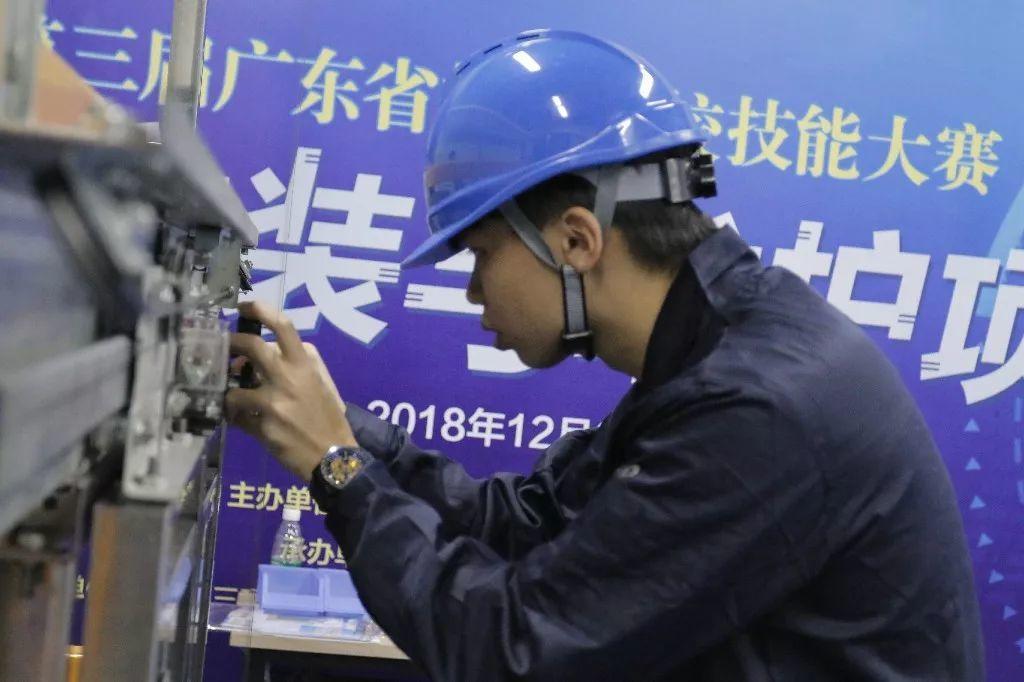 第三届广东省技工院校技能大赛电梯安装与维护项目在学院落下帷幕