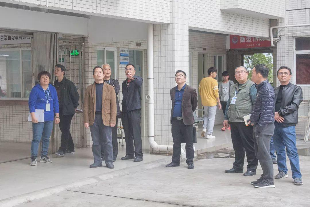 省人社厅安全检查组莅临我院开展校园安全检查
